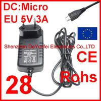 Free Shipping 1PCS CE ROHS LA-530 EU 5V Micro USB Charger 3A
