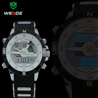 Free shipping Brand Weide LED watches Dual Time Military Watch Waterproof Men Sport watch WH-1104
