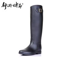 Fashion handsome hasp black tall riding boots rain boots rainboots