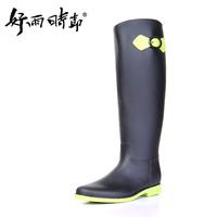 New fashion rain boots super handsome hasp hyun-color gaotong rainboots