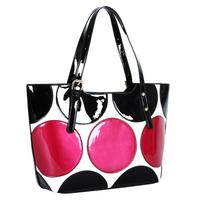 High quality fashion big circle print  women's handbag star loves elegant lady's shoulder bag top brand designer messenger  bag