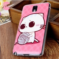 5pcs For samsung   note3 phone case mobile phone protective case cartoon colored drawing kitten