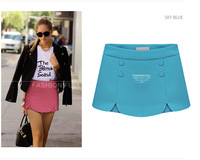 New 2014 spring summer fashion ruffles Women's Slim wild casual solid color shorts skirt female Short pants free shipping 42805