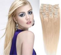 clip human hair  freeshipping Straight cheap  virgin hair thick hair extensions brazilian la colored human hair extension