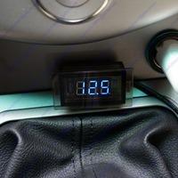 Motorcycle ATV Car Blue LED Voltage Volt Meter Panel Monitor Gauge Free Shipping