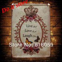 [ Do it ] Vintage Tin Signs PUB House Cafe Retro Metal painting Retro Craft Decor 15*21 CM N-45