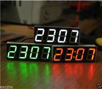 1pcs new DIY LED Digital tube electronic clock MCU clock module with Temperature date