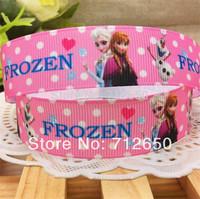 New Arrival 7/8'' 22mm Frozen printed grosgrain ribbon cartoon ribbon EF151 diy Bow Gift Wrap ribbon10 yards free shipping