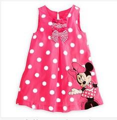 SJ84 Girls dresses Retail Free shipping Summer new arrival minnie mouse dot bow dress,children dress,kids dress girls clothing(China (Mainland))