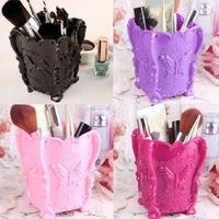 2014 Fashion New Design 1pcs/lot 5 colors Acrylic Makeup Cosmetic Storage Box Case Holder Brush Pen Organizer Decorative 671143