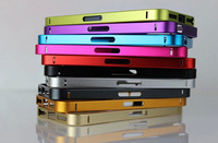 NEW Luxury Ultra-thin 0.7mm Aluminum Metal Bumper Blade Case Bezel Frame For Apple iPhone 5 5S with button without screw