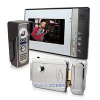 "7"" Color LCD Door Phone Doorbell Intercom System IR Camera Electronic Lock"