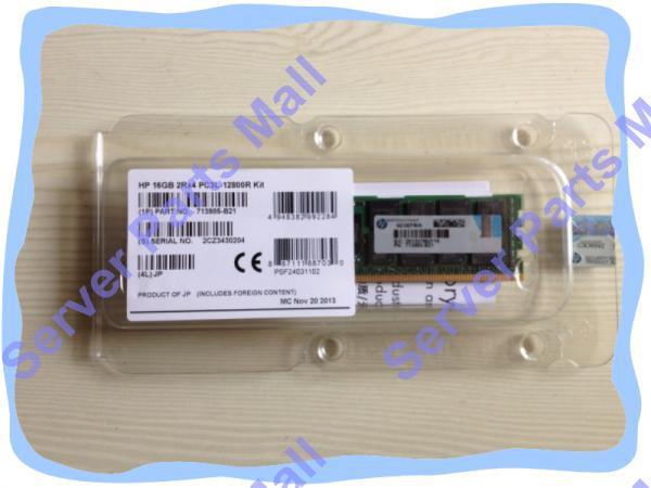 713985-B21 715284-001 713756-081 16GB (1x16GB) 2Rx4 PC3-14900R (DDR3-1600) Registered CAS-13 Memory Kit, Retail, 1 yr warranty(China (Mainland))