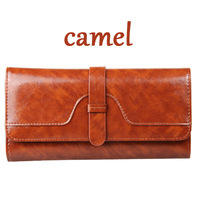 2014 new hot sell oil wax Wallet women's wallet genuine solid leather wallet high quality fashion wallet, free shipping
