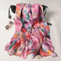 180x70cm 124005 2014 Newest Women's 100% Silk scarf, 100% Silk scarves, rectangle silk scarf, Free Shipping  Muslim Hijab