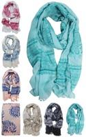 Women Phoenix Print Scarf Voile Soft Chiffon Long Wrap Beach Shawl Scarves