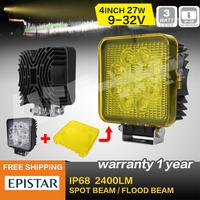 4 INCH 27W LED WORK LIGHT FOG LAMP, FOR OFF ROAD 4WD TRUCK ,MARINE BOAT LED DRIVING LIGHT CAR EXTERNAL LIGHT