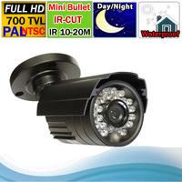 Free shipping Security CCTV CMOS 700 TVL IR-Cut Mini Bullet Camera IR 10-25M