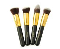 4 pcs Ailunce Bshow Black Gold Pro Foundation Blush Liquid Brush Kabuki Makeup Brush Set Cosmetics Brush ZH1217C