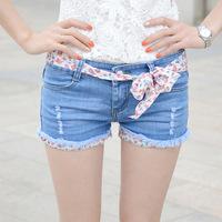 2014 summer new Korean women shorts hole large size women's denim shorts jeans B31-6609