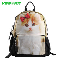 2014 new kids backpack cat bag for girls cartoon knapsack children school bags women backpacks animal backpack mochila