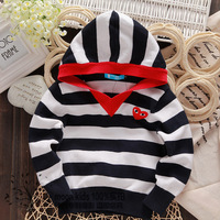 2014 spring and autumn female male child baby sweater with a hood and infants sweater girls casual pullover