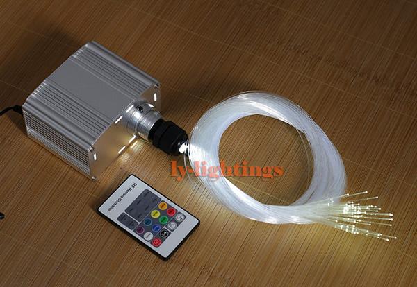 DIY optic fiber light kit led light +100x0.75MM+40X1MM 2M optical fibre color change twinkle star ceiling light 20W RF remote(China (Mainland))