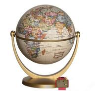 Geography globe educational supplies school teaching resources office decor gift  10cm retro design english