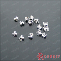 Wholesale Silver Iron Covered Clasps for 2-2.4mm Beads Chains making Diy Jewelry Findings Accessories 200 pieces(J-M5073)