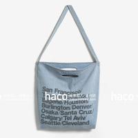 Self-restraint aa fashion letter one shoulder oversized retro denim finishing bag eco-friendly bag