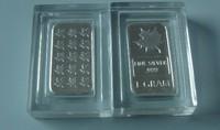 Free shipping 100pcs/lot Direct Fit 15mm *8mm 1 gram plastic airtight bullion bar holders