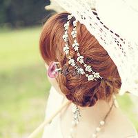Sweet garishness rhinestone the bride hair accessory hair band the wedding hair accessory formal dress chain