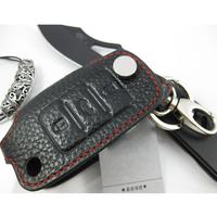 Skoda octavia special genuine leather key wallet set buckle