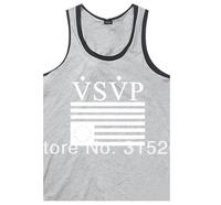 Hot sale!!!Free shipping 2014 Fashion Men Sleeveless Cotton T Shirt Tank Tops.