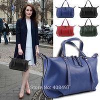 New Women Handbag Genuine Leather Hobo Shoulder Tote Satchel Rivet Crossbody Bag