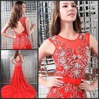 Free shipping /wedding dress/Ultimate luxury crystal formal dress/s evening dress xj8064