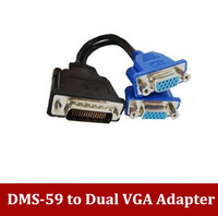 High Quality  Free Shipping DMS 59 to VAG cable DMS-59 to Dual VGA Video Cable 59pin DVI TO 2*VAG