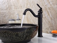 Unique Style ORB Brass Basin Sink Faucet Bathroom Mixers Hot And Cold Water Taps Single Handle Faucet  MK9964OB