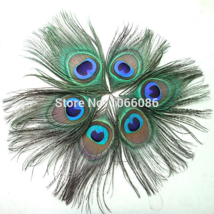 FREE SHIPPING 200pcs lot Beautiful Peacock feathers for craft Peacock Feather Eyes feather accessories