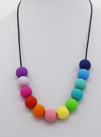 Free Shipping -Month/Daughter Silicone Teething Necklace Rainbow necklace