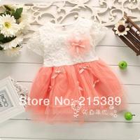 New 2014  flower children dress summer models girls cotton  princess dress children free shipping