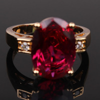 womens ring 18k yellow gold filled ruby 3.6ct cut zircon ring fashion jewelry size 7