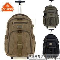 Aoking canvas trolley luggage bag trolley bag travel bag backpack trolley backpack luggage