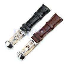 """"""" u95 chegam novas design durável couro genuíno 18mm-24mm deployant faixa de relógio pulseira bracelete preto/marrom(China (Mainland))"""