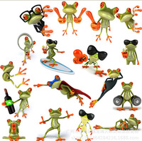 Wholesale 100Pcs Frog Funny Car Stickers Truck Window Vinyl Decal Sticker 20x23cm
