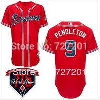 Cheap Wholesale 2014 Men's Baseball Jerseys Atlanta Braves #9 Terry Pendleton Cool Base Jersey,Embroidery Logos,Size M-XXXL