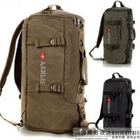 Canvas travel bag one shoulder portable multifunctional bag drum bag male travel backpack sports tube package