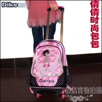 Female child trolley luggage bag school bag cartoon backpack casual backpack travel bag oxford fabric bag