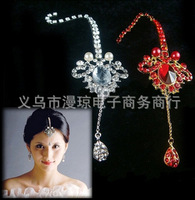Free shipping, Bride wedding jewelry,Indian style, alloy ornaments, ,The bride head adorn article 6pcs/lot