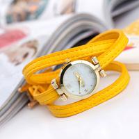 Hot Sales 2014 New Retail Leather Strap 3 Circles Women Dress Watches,Fashion Mustache Model Girls Quartz Wrist Watch,Gift Watch